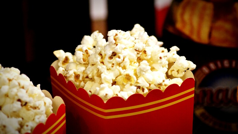 Close-Up Of Popcorns