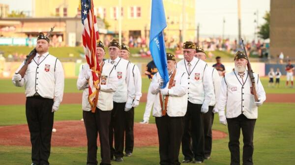 Skiatook VFW formation on field