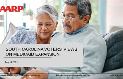 Overwhelming Bipartisan Support for Medicaid Expansion shown in new AARP South Carolina Poll