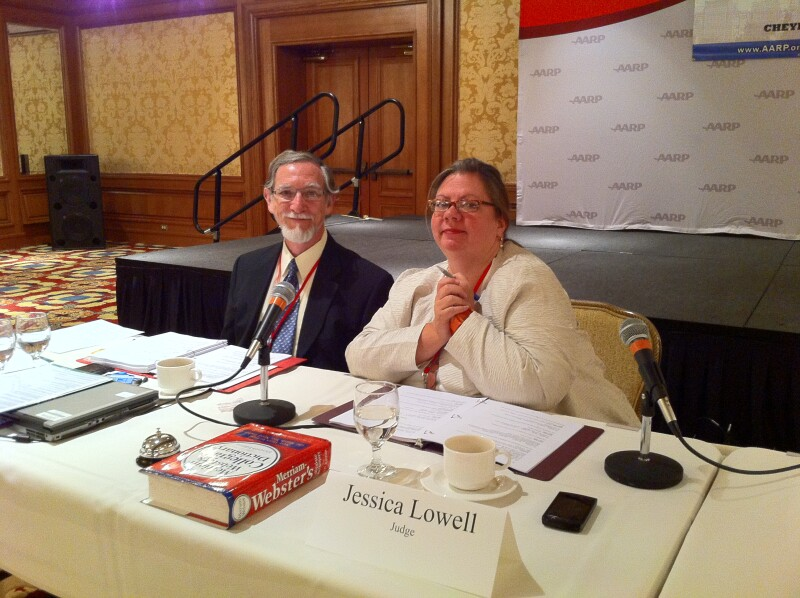 AARP National Spelling Bee judges