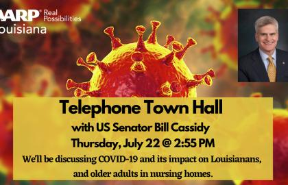 AARP Louisiana Hosts Telephone Town Hall with U.S Senator Bill Cassidy