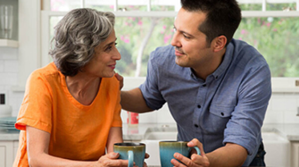 Careversation Latina mom and son