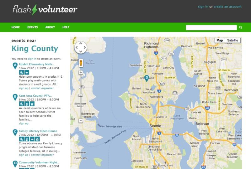Flash Volunteer Screen