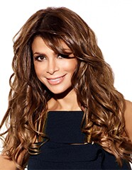Photo of Paula Abdul, singer and television show talent judge.