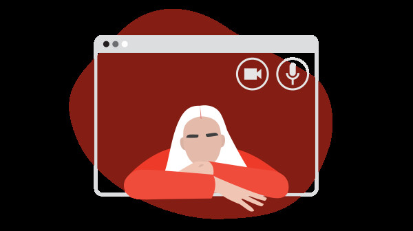 Illustration of Caregiver in Virtual Chat Window