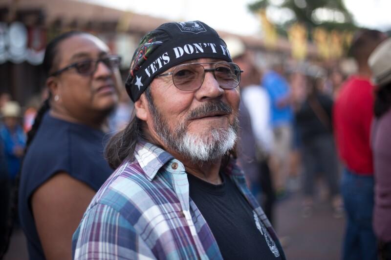 Santa Fe, NM: Military Veteran at 2018 Santa Fe Fiesta