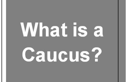 Test Your Caucus Know-How