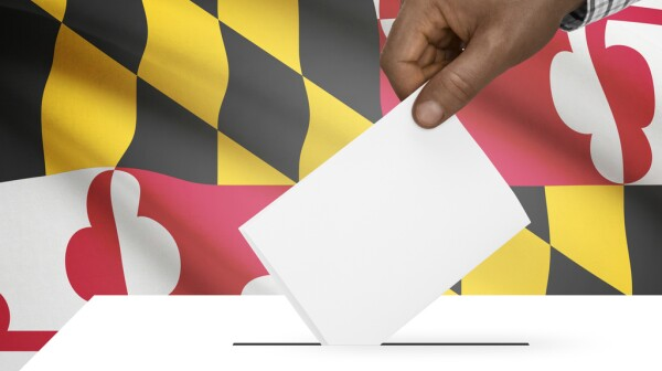Ballot box with US state flag series - Maryland