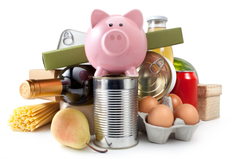 piggybank and food