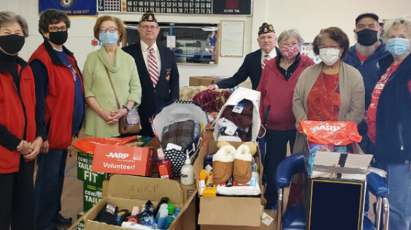 AARP Oklahoma Pittsburg County chapter members make donation to Talihina VA Veterans Center