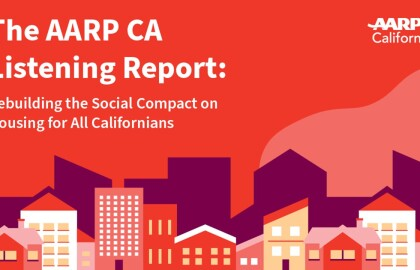 The AARP CA Listening Report: Rebuilding the Social Compact on Housing for All Californians