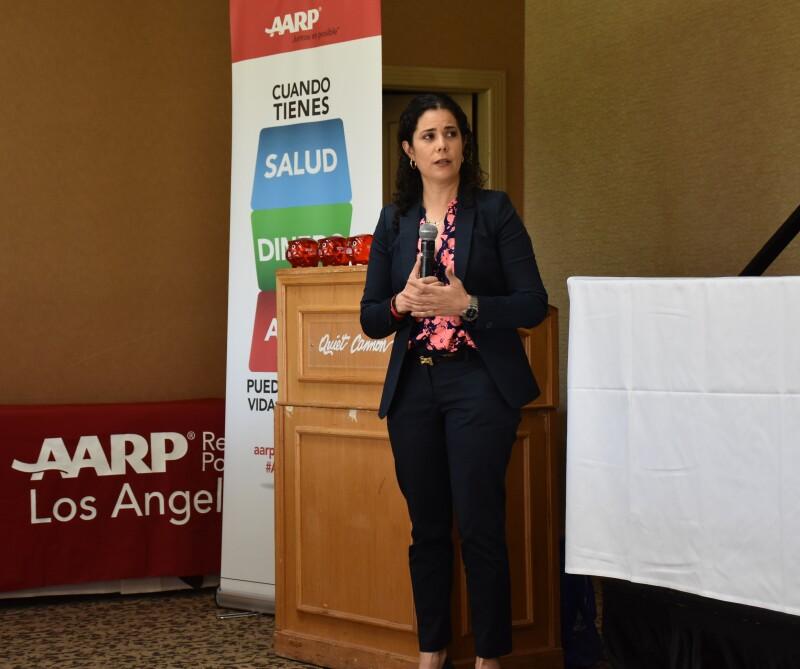 Adriana Mendoza presenting CA Dreaming
