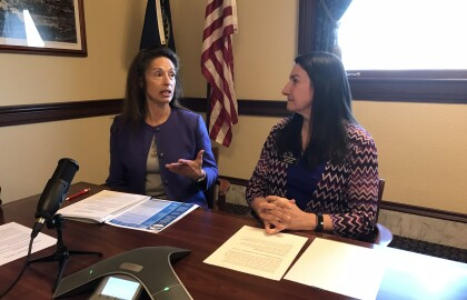 Telephone Town Hall  with Senate Minority Leader Michelle Stennett and House Minority Leader Ilana Rubel