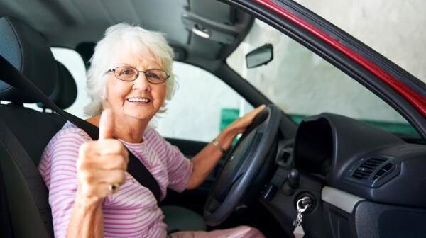 canfident driving grandma