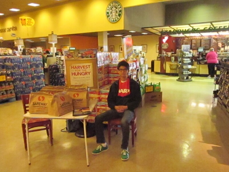 Ed Yalow's son volunteers at a Safeway in Baltimore during HfH.