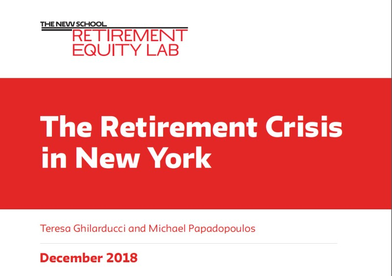 The Retirement Crisis in NY report cover