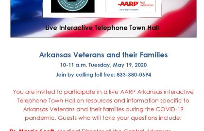 AARP Arkansas Hosts Live Tele Town for Veterans, Military and Families