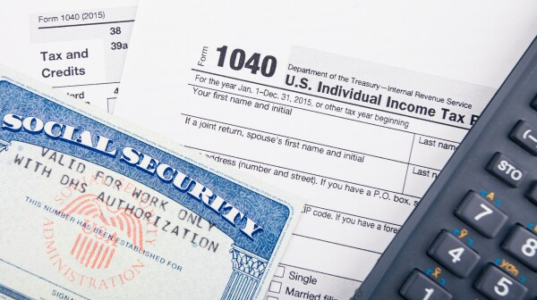 Tax return forms and documents