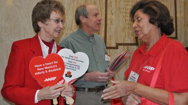 AARP NM Volunteers at State Legislature