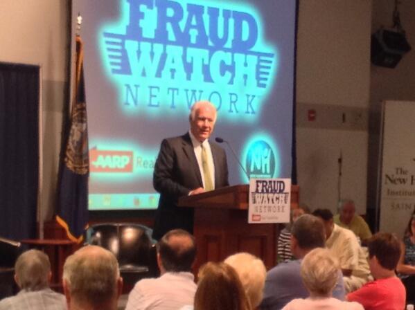 Mayor Gatsas addresses crowd at scam jam on June 24