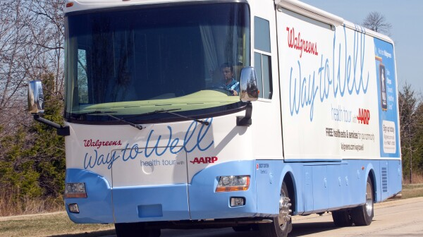 localaarp walgreens health tour bus