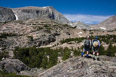Hiking in Wind River Mts