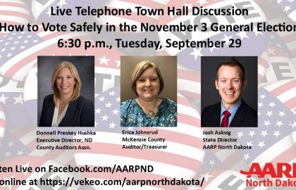 Telephone Town Hall on Voting Options in N.D.