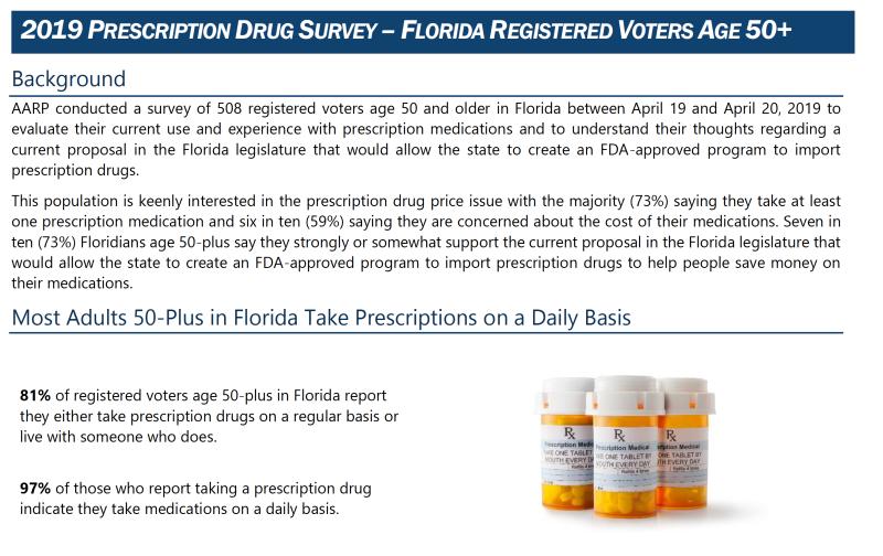2019 AARP Florida prescription drug survey