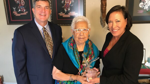 2017 Indian Elder Honors Edwards Award Henrietta Mann SV MS 9.18.2017