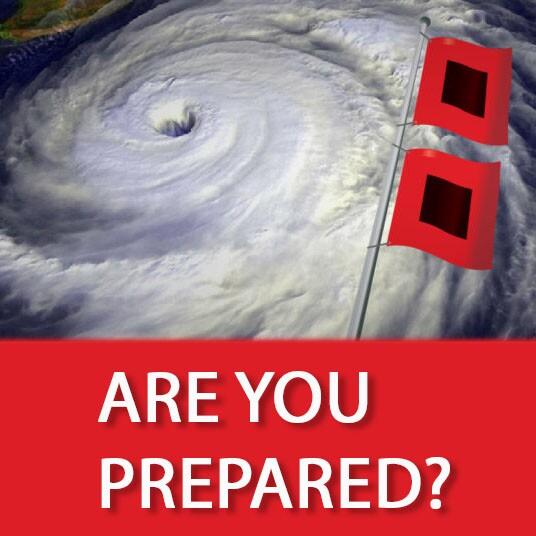 Hurricane and hurriane flags Are You Prepared