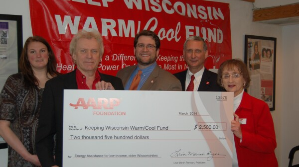 AARP donates to Keep WI WarmCool