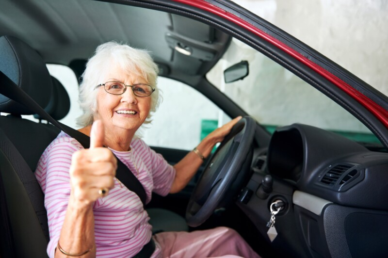 canfident driving grandma