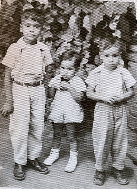 Young Joe with his two younger brothers in Mexico