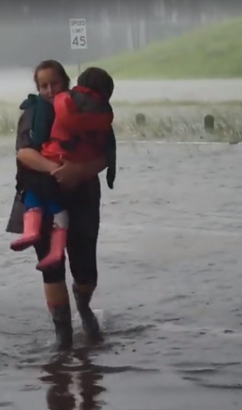 houston flooding image via Sergio Soto KHOU-TV