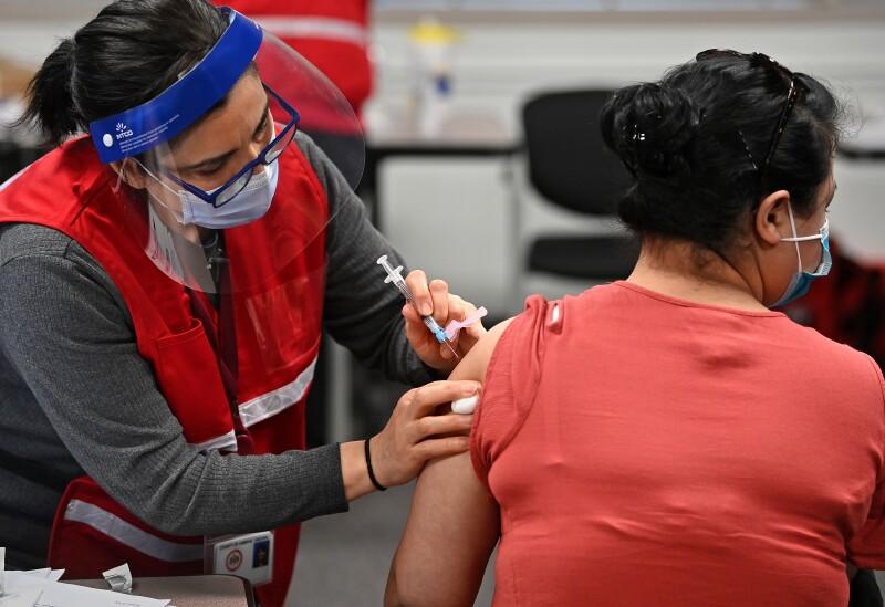 Fairfax, Virginia Health Care Workers Get Covid 19 Vaccine Shots
