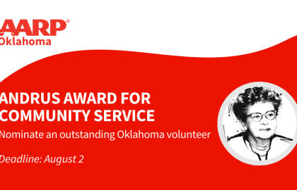 AARP Oklahoma seeks 2021 Andrus Award for Community Service nominees