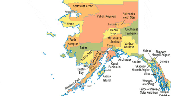 map of AK