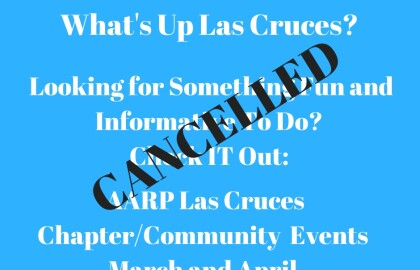 Las Cruces AARP Community Events -- Cancelled
