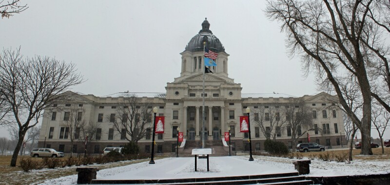 South Dakota State Capitol in Winter