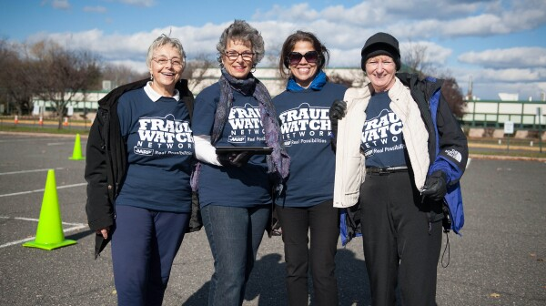 A group of Fraud Watch Network volunteers
