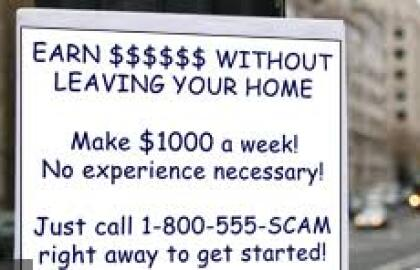 Work at Home Scams That Cost You