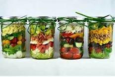 Mason jar meal graphic