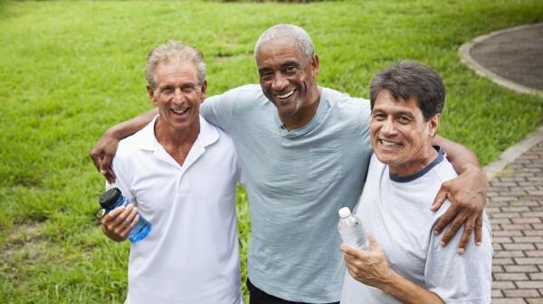 Multi-ethnic men outdoors