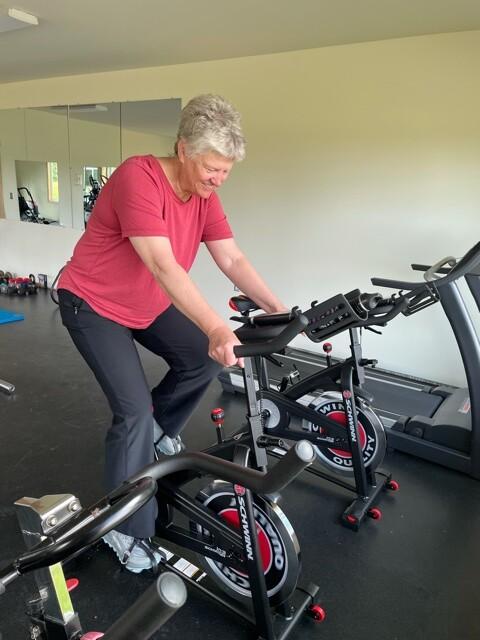 Gustavus Fitness Center spin bike
