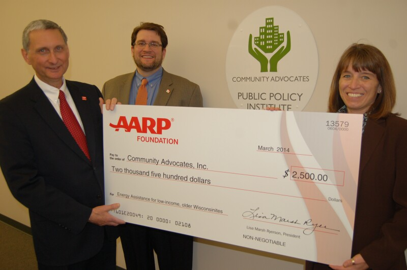AARP donates to Community Advocates