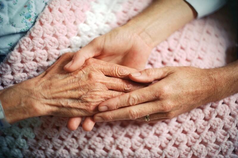 elderly hands care