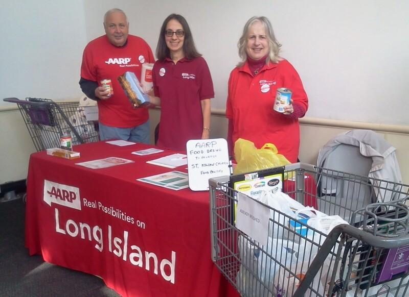 volunteers in stop and shop