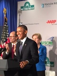 POTUS at podium -smiling