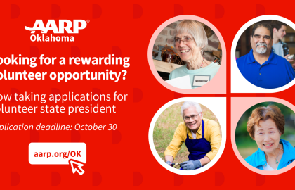 AARP OK is accepting applications for volunteer state president
