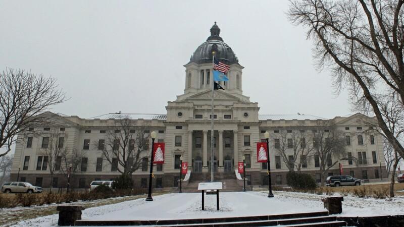 South Dakota State Capitol in Winter